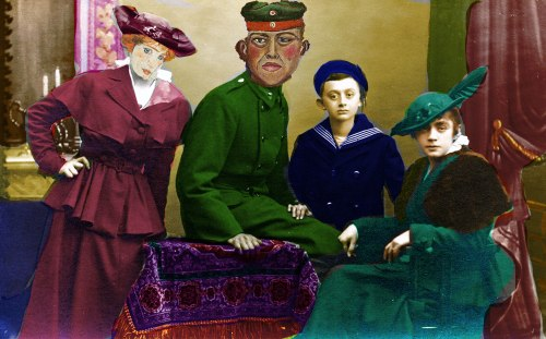 Emmy, Georg, Hans and Lilly Kornmehl 1915